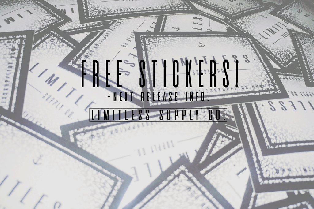 Free Stickers + Next Release Info.