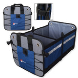 Car Trunk Organizer for Car, SUV, Auto, Truck, Home by Higher Gear - Car Storage Organizer Features 2 Interior Compartments, 3 Exterior Pockets, Rigid Folding Bottom, No Slip Feet - Collapsible, Too!