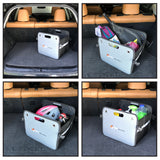 Trunk Organizers For SUV by Higher Gear - Trunk Organizer for Car, Auto, Truck - Reinforced Handles, 3 Interior Mesh Pockets, Collapsible Rigid Folding Bottom | Plus eBook