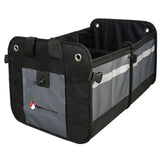 Higher Gear Car Trunk Organizer for Car, SUV, Auto, Truck, Home | Car Storage Organizer Features 2 Interior Compartments, 3 Exterior Pockets, Rigid Folding Bottom, No Slip Feet | Collapsible, Too