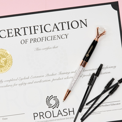 ProLash Eyelash Extension Training Certificate of Proficiency (Exclusive ProLash Trained Technicians Only)