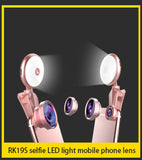 "Selfie Light with magnifier for cell phone- ""NEW"""