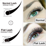"CLASSIC ""FLAT"" LASH CASE-Mink/Single Lash/ Curls C, D, DD/Lengths 9-15/Thickness .15"
