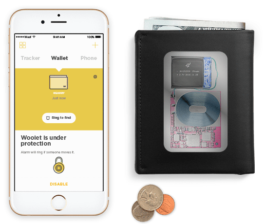 Kickstarter Woolet Smart Wallet - smart, slim, hand-crafted wallet