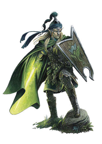 An illustration of an Illumine Soul character, a woman in green armor, wielding a glowing green sword made of energy.