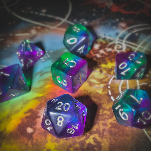A photo of d20collective's Lucid dice set