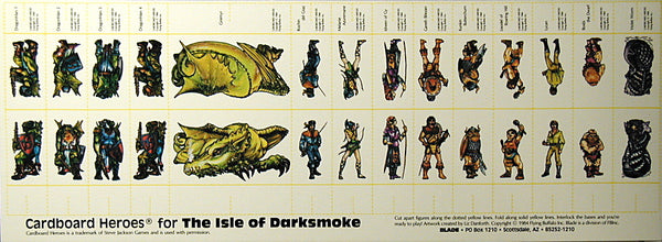 "An image from the module ""Isle of Darksmoke"". There are several images of characters, which can be used as paper miniatures when playing through the oneshot. There is also a dragon, to be used as an NPC."