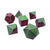 Pandering Afterglow - 7 Piece Glow in the Dark Metal Dice Set