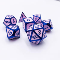 Bubblegum Alloy - 7 Piece Metal Dice Set-DnD-Metal Dice-Dungeons and Dragons-D20 Collective