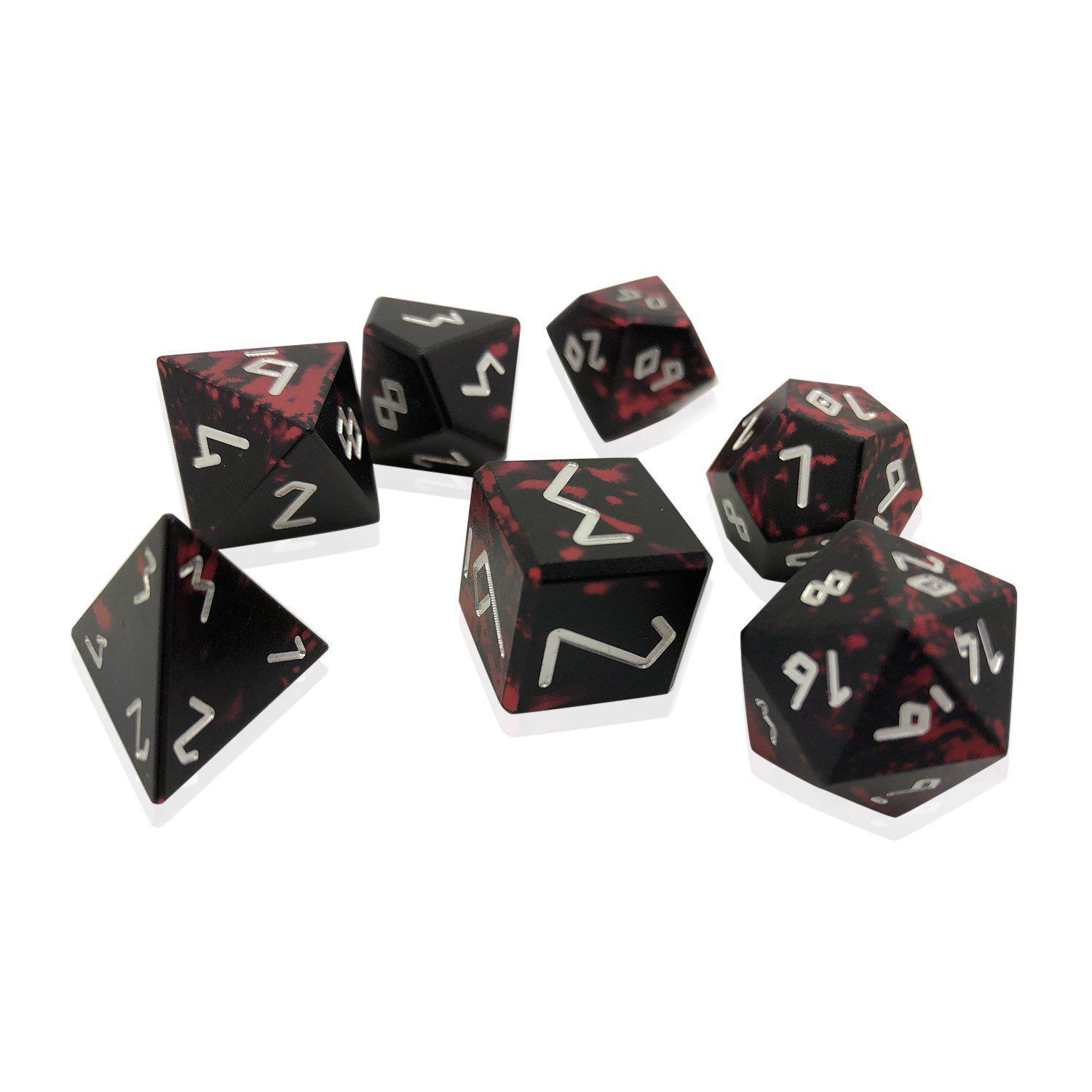Demon S Blood Wondrous Dice By Norse Foundry D20 Collective Gemstone dice, dice hewn from petrified wood, mammoth ivory dice! demon s blood wondrous dice by norse foundry