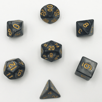 DnD-Black Granite - Hedronix-Dice-Dungeons and Dragons-D20 Collective