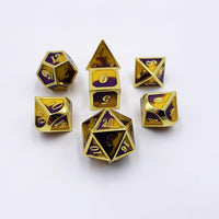 Dawnsteel - 7 Piece Metal Dice Set-DnD-Metal Dice-Dungeons and Dragons-D20 Collective