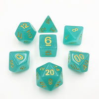 DnD-Electric Beryl - Hedronix-Dice-Dungeons and Dragons-D20 Collective