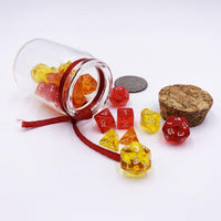DnD-Fire in a Bottle - 3 Set Mini Dice Jar-Dice Jar-Dungeons and Dragons-D20 Collective