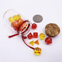 Fire in a Bottle - 3 Set Mini Dice Jar-DnD-Dice Jar-Dungeons and Dragons-D20 Collective