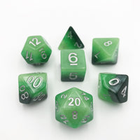 DnD-Gradient Jade - Hedronix-Dice-Dungeons and Dragons-D20 Collective
