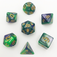 DnD-Green Nebula - Hedronix-Dice-Dungeons and Dragons-D20 Collective