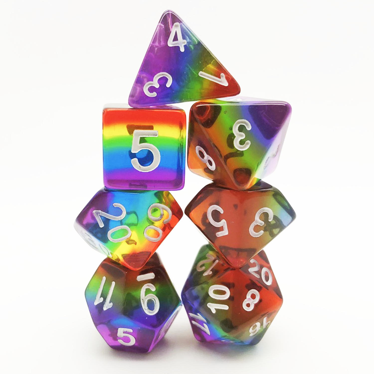 Translucent Rainbow - Hedronix-DnD-Dice-Dungeons and Dragons-D20 Collective