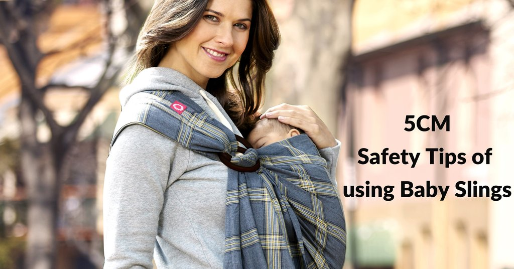 5CM: Safety tips of using baby ring slings carriers