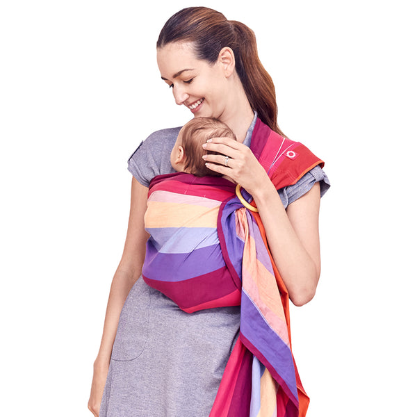 520a3418dc9 Mamaway Baby Ring Sling - Rainbow Candy Wrap