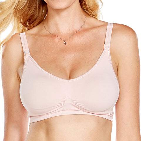 Second Skin Seamless Maternity & Nursing Bra - Pink