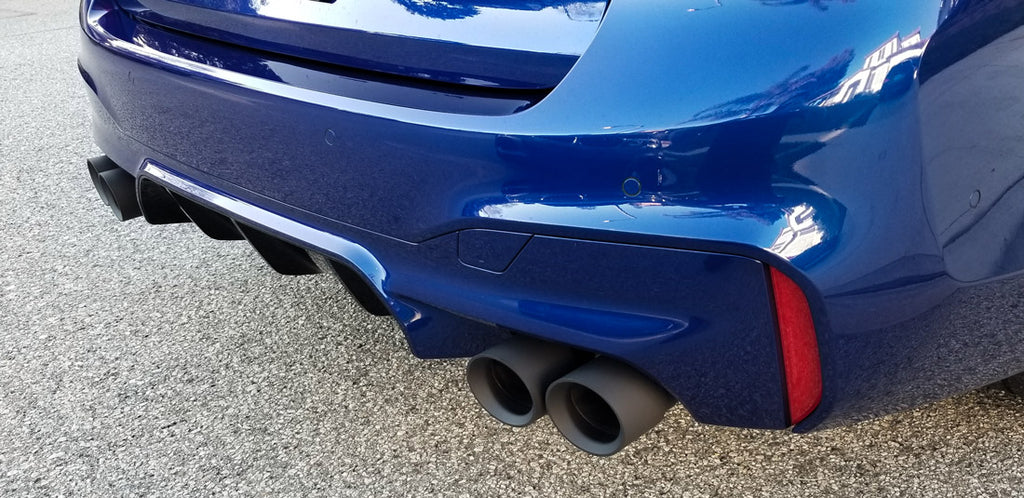 F90 BMW M5 Black Exhaust Tips