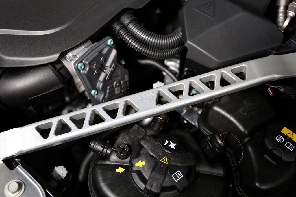 BMS Billet Strut Cross Braces for G20 BMW M340i M340iX 330i 330iX JB4 Burger Motorsports BMS