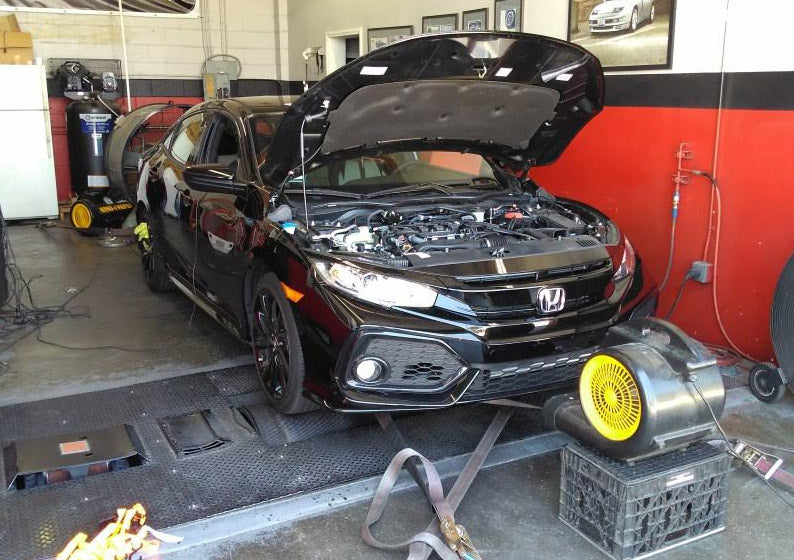 HONDA Civic 1.5 TURBO JB4 Tuned on dyno