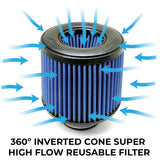 BMS EA888 Intake Replacement Filter (1053) - Burger Motorsports
