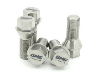 Titanium Lug Bolts for BMW by BMS - 20 Bolts - M12X1.5 (E Chassis) - Burger Motorsports