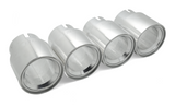 BMS Straight Cut Billet Exhaust Tips (set of 4) - Burger Motorsports