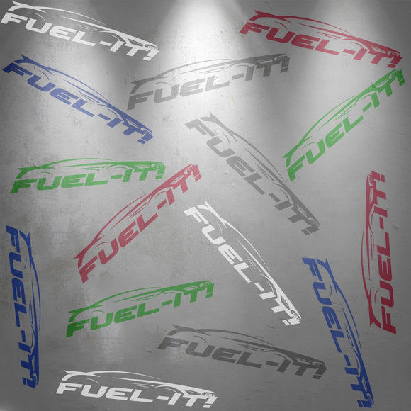 Fuel-It Logo Sticker Sheet (TWO PACK) - Burger Motorsports