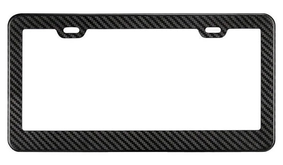 Real Carbon Fiber License Plate Frame - Burger Motorsports