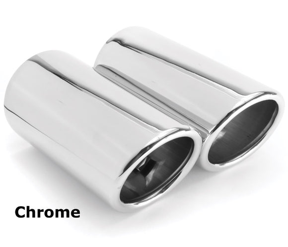 2006+ BMW E Chassis 323 325 328 330 Slip-On N51 / N52 Exhaust Tips (Pair)