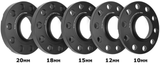 Mini Cooper R60 Countryman & R61 Paceman Wheel Spacers by BMS w/10 Black Extended Wheel Bolts (Pair, 2 Wheels) - Burger Motorsports