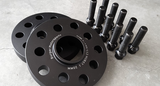 VAG Wheel Spacer Kit w/10 Black Extended Wheel Bolts (Pair, 2 Wheels) - Burger Motorsports
