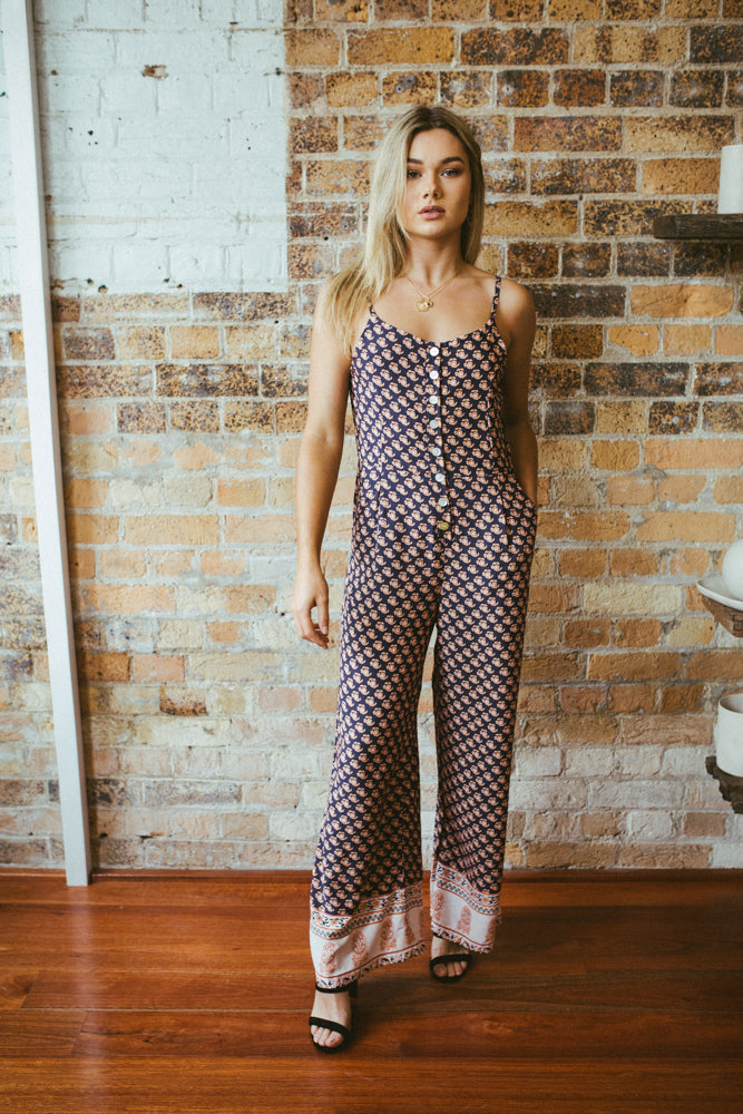 This easy wear jumpsuit is effortlessly chic in design.
