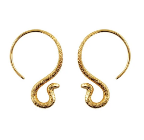 Gold Picasso Stud Earrings