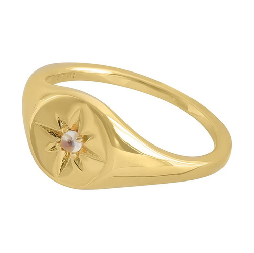 Gold Enchanted Light Signet Ring