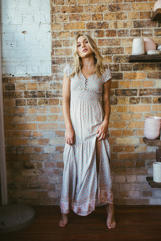 Liberty Maxi Wrap Dress
