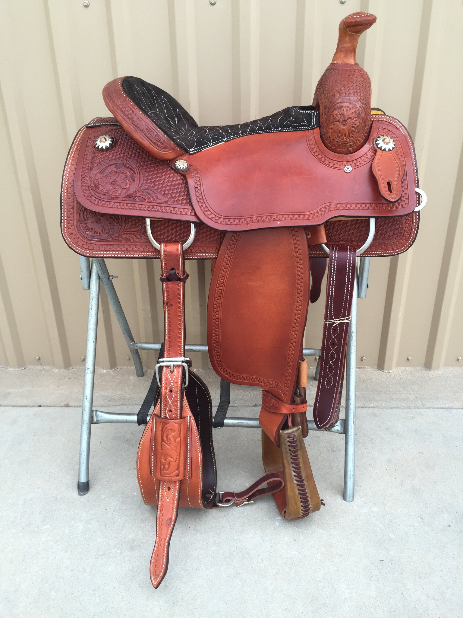 Corriente Team Roping Saddle SB116 - The Sale Barn - 1