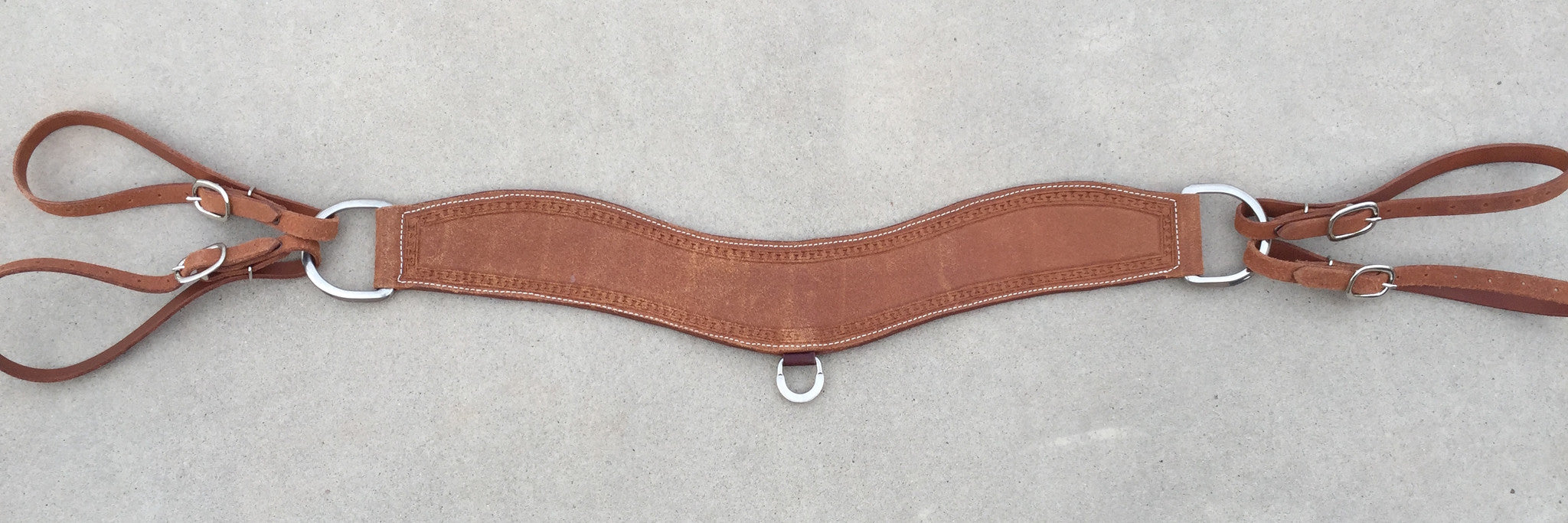 Tripper Roping Breast Collar Rough Out with Running W Trim - The Sale Barn - 1