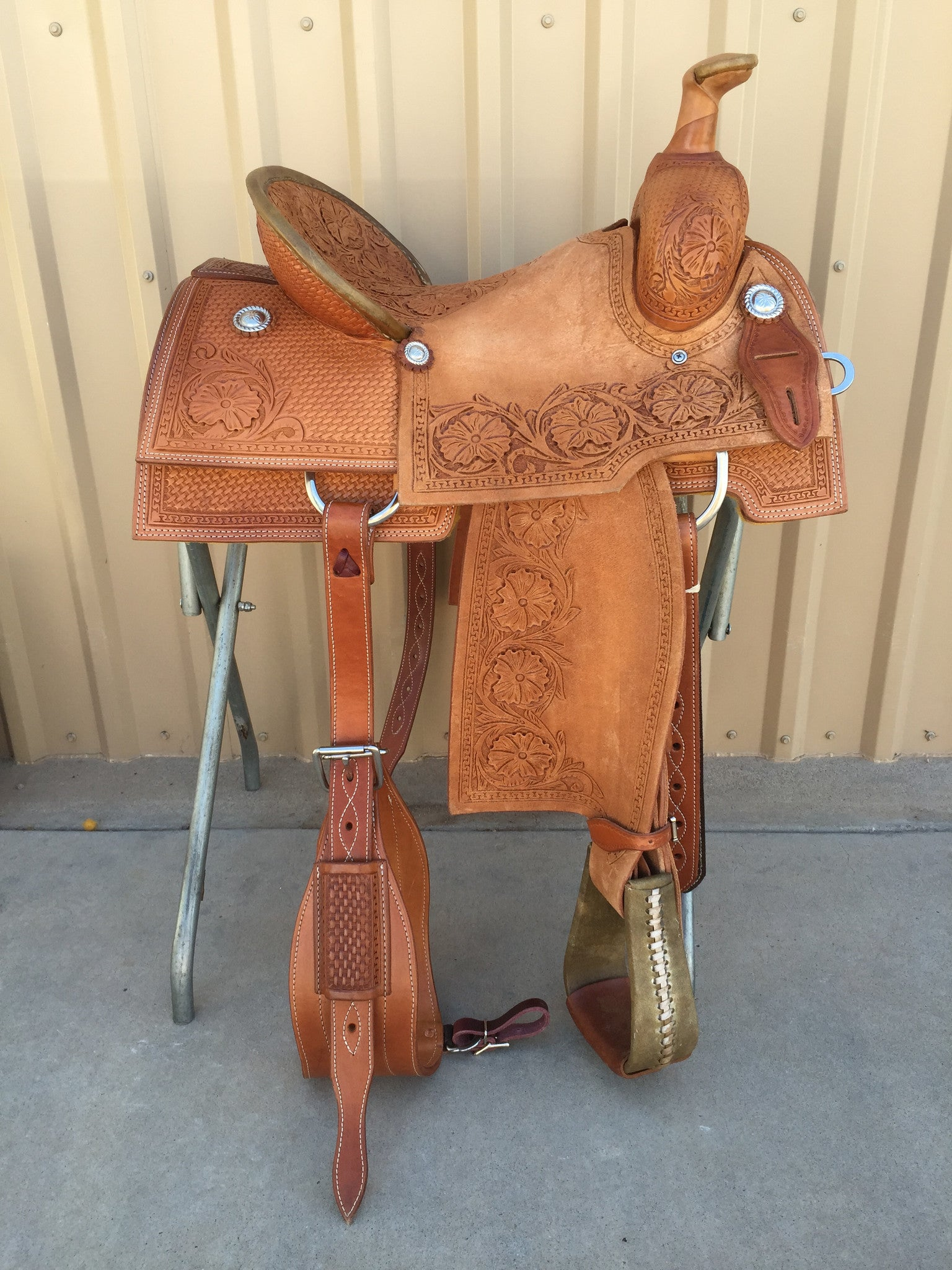 Corriente Team Roping Saddle SB151 - The Sale Barn - 1