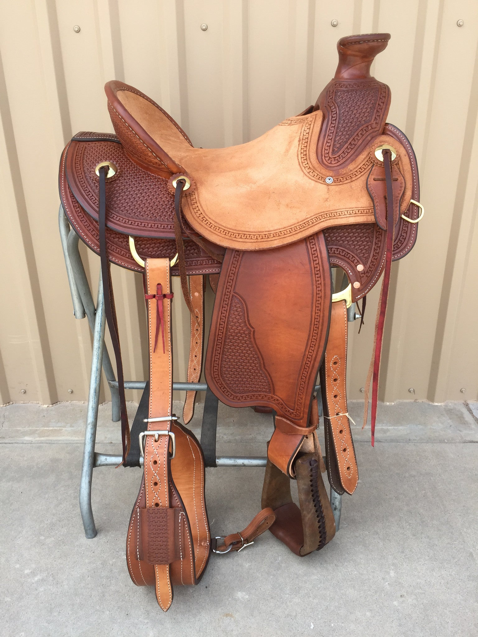 Corriente Ranch Wade A-Fork Saddle SB441 - The Sale Barn - 1