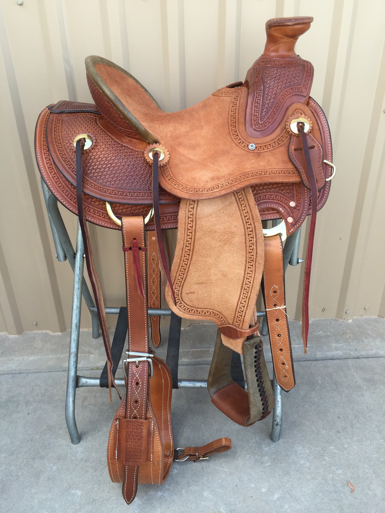 "Corriente Youth 13"" Ranch Wade Saddle SB440 - The Sale Barn - 1"
