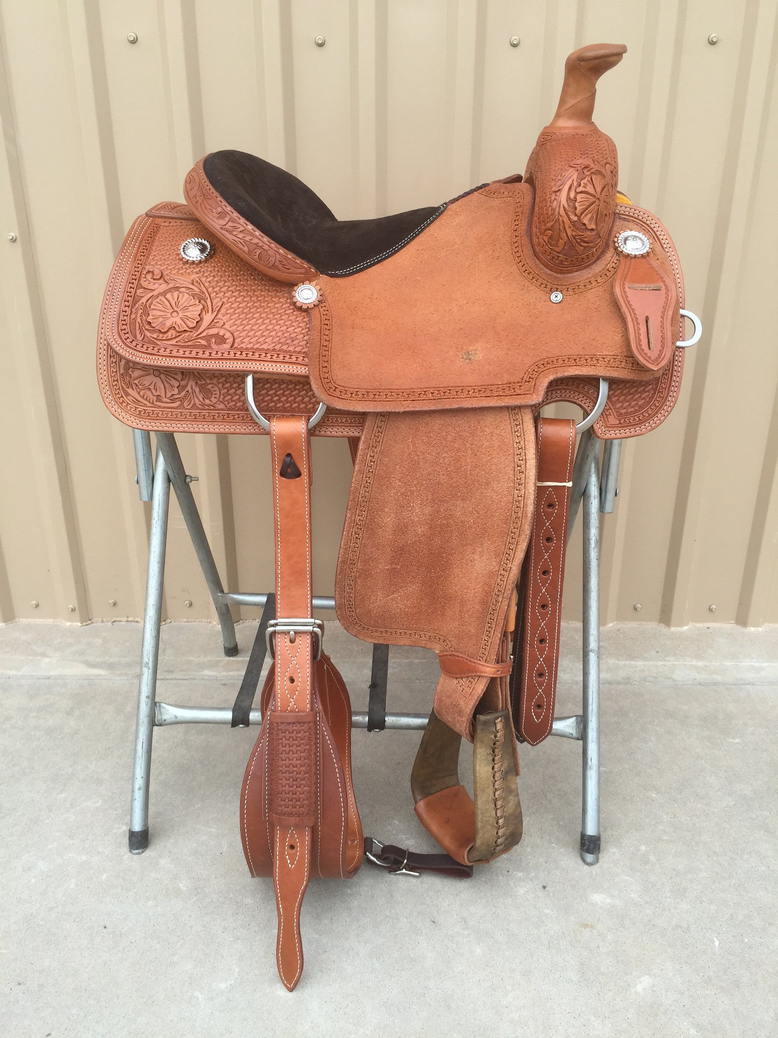 Corriente Team Roping Saddle SB154 - The Sale Barn - 1