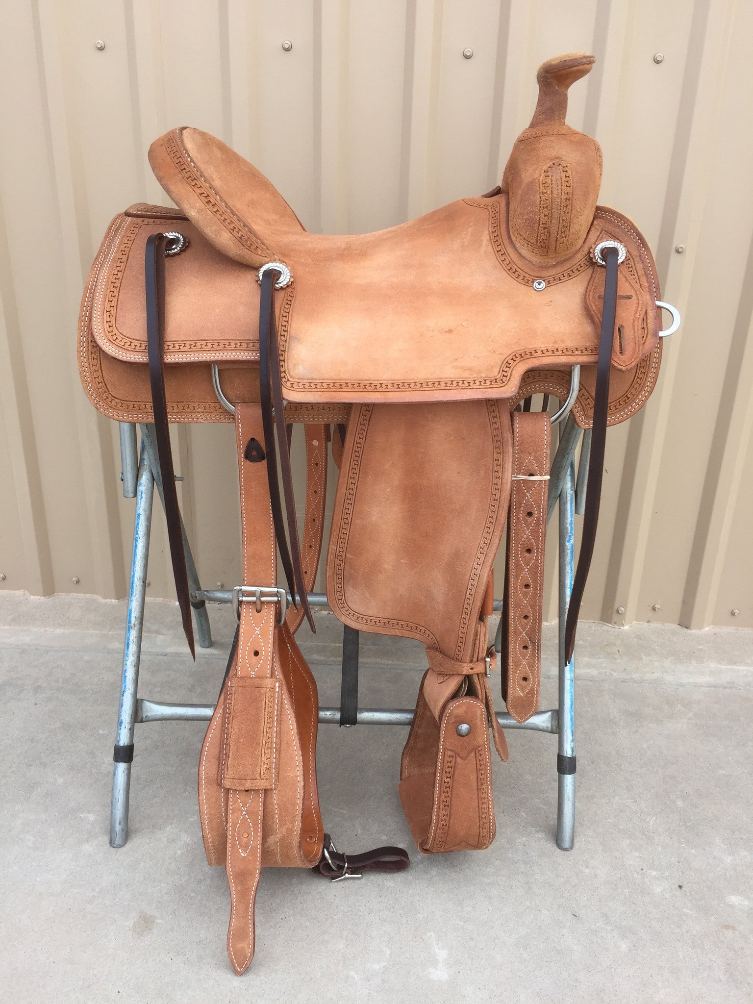 Corriente Ranch Will James Association Saddle SB375 - The Sale Barn - 1