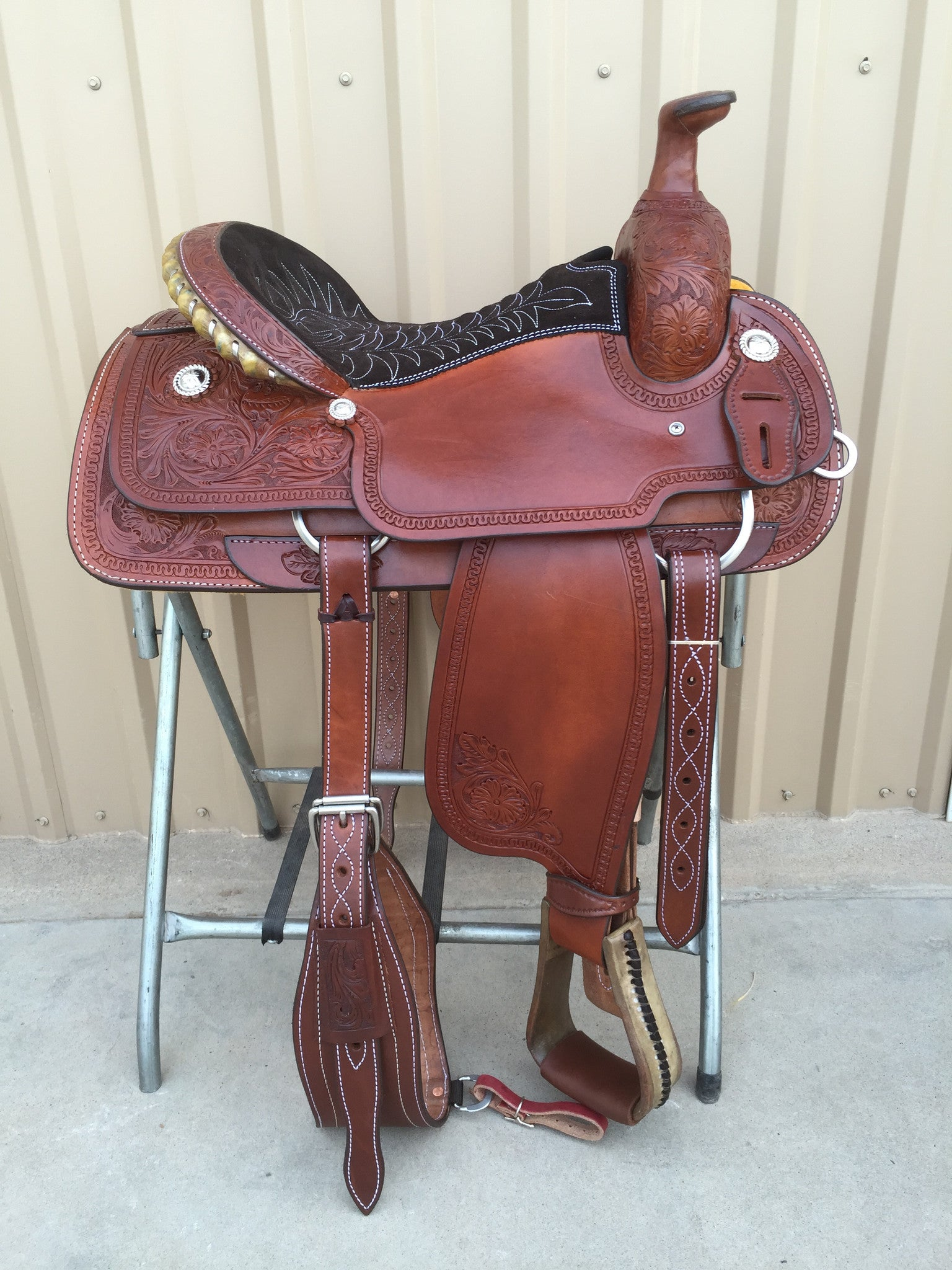 Corriente Team Roping Saddle SB127 - The Sale Barn - 1
