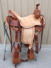 Corriente Ranch Will James Association Saddle SB362 - The Sale Barn - 1