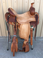 Corriente Ranch Will James Association Saddle SB364 - The Sale Barn - 1